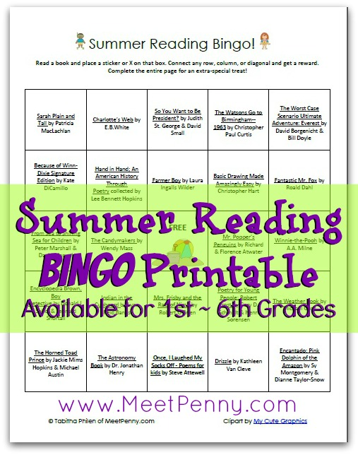 Summer Reading Bingo 2