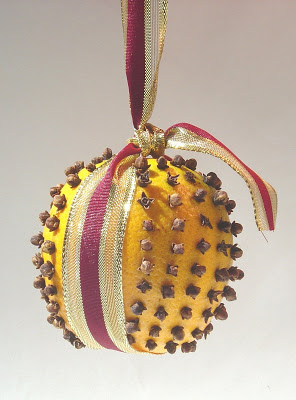 Pomander in Ribbon